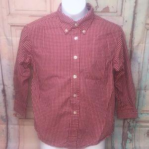GAP Boys Button Down Long Sleeve Shirt